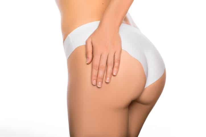 Brazilian butt lift closeup.